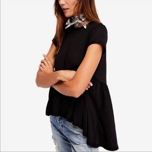 Free People It's Yours Pima Cotton High Low Tee
